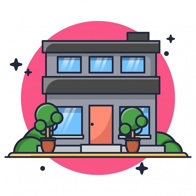 Дом иконка иллюстрация Premium векторы