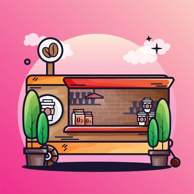 Кофейный магазин Premium векторы