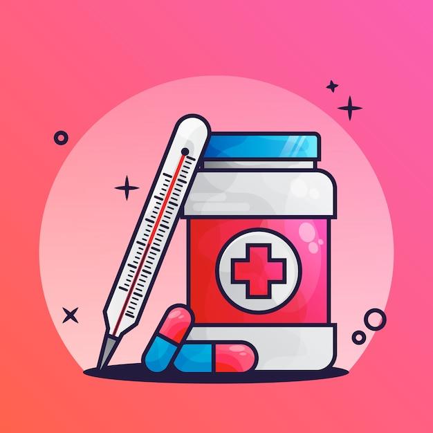 Медицинский препарат иконка Premium векторы
