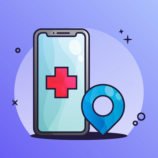 Приложение медик Premium векторы