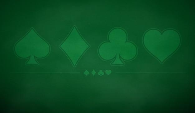 Покер фон стола в зеленый цвет. Premium векторы