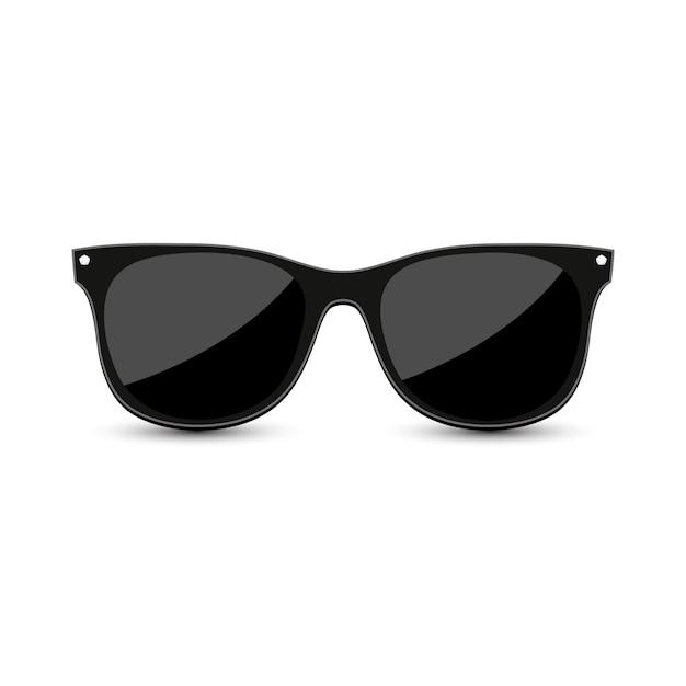 Черные хипстерские солнцезащитные очки Premium векторы