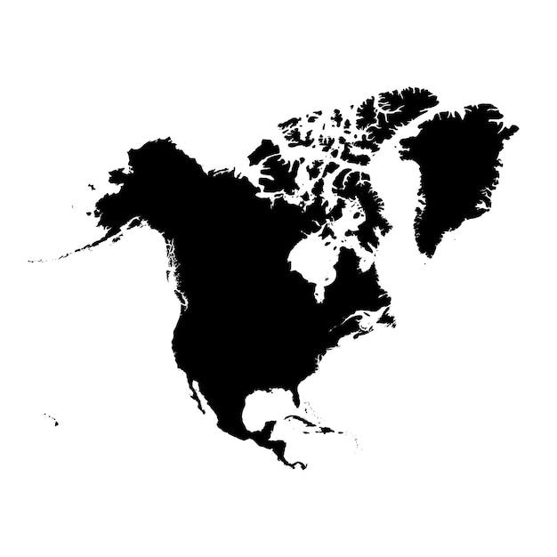 北アメリカの詳細地図 Premiumベクター