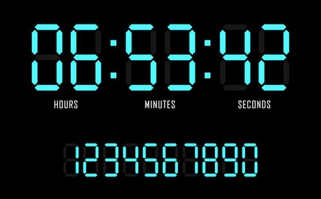 Предпосылка таймера цифровых часов вектора шаблона вебсайта обратного отсчета. Premium векторы