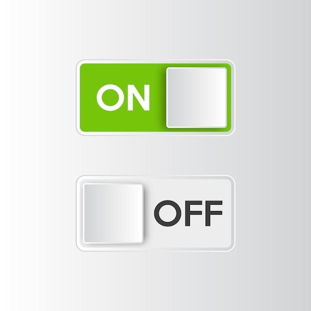 アイコンのオンとオフを切り替えるスイッチボタン。 Premiumベクター