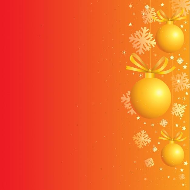 金色の装飾とクリスマスの背景 Premiumベクター