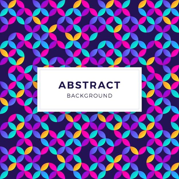 カラフルな抽象的なグラデーション幾何学的形状の背景 無料ベクター