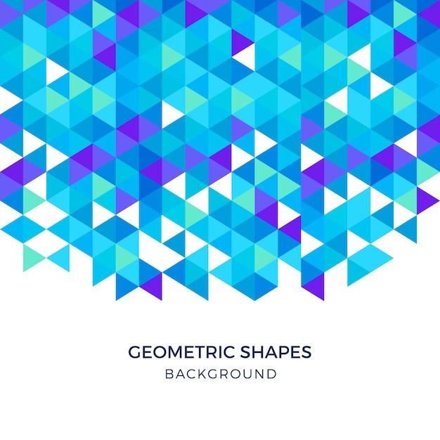 Голубые геометрические фигуры треугольный фон Бесплатные векторы