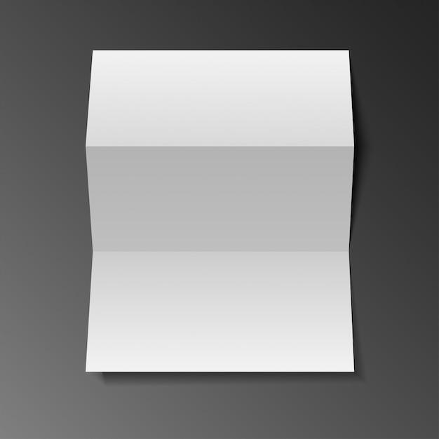 ブランクモックアップ三角紙のリーフレット、フライヤー、シート Premiumベクター