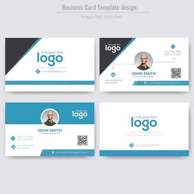 Корпоративный дизайн личных визиток Premium векторы