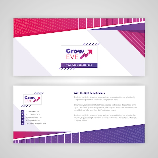 カラフルな招待状カードデザイン Premiumベクター