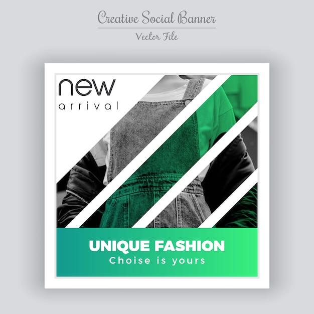 ファッションソーシャルメディアの投稿テンプレート Premiumベクター