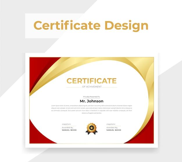 Золотой сертификат цвета Premium векторы