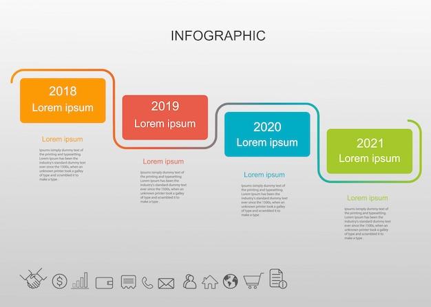 インフォグラフィック。 Premiumベクター