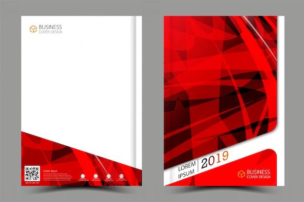 カバーブックセットのビジネスコレクション。要約からの雑誌のインスピレーション。 Premiumベクター
