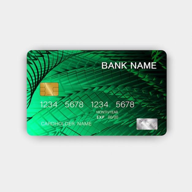 グリーンクレジットカード Premiumベクター