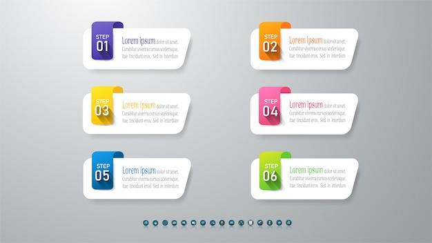 デザインビジネステンプレートインフォグラフィックグラフ要素。 Premiumベクター