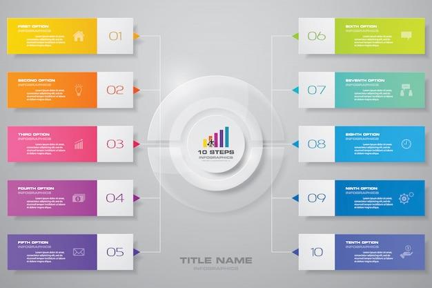 Элемент дизайна диаграммы инфографика Premium векторы