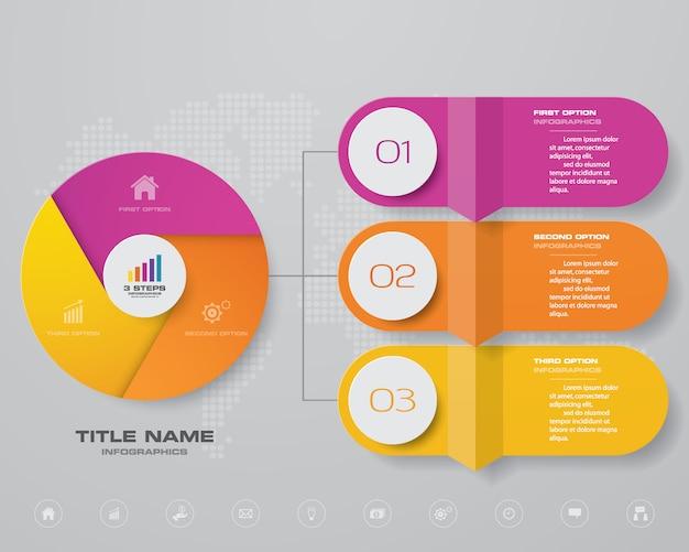 Элемент дизайна диаграммы инфографики Premium векторы