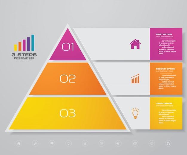 Инфографика пирамидальной диаграммы Premium векторы