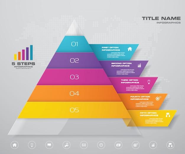 ピラミッドチャートのインフォグラフィック Premiumベクター