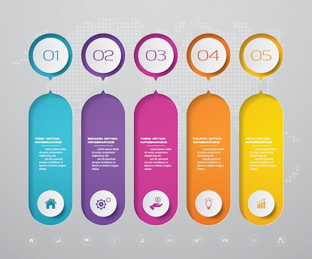 Хронология инфографики элемент Premium векторы