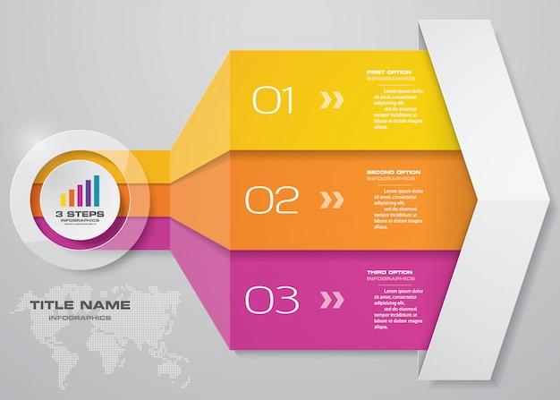 インフォグラフィック矢印グラフ要素。 Premiumベクター