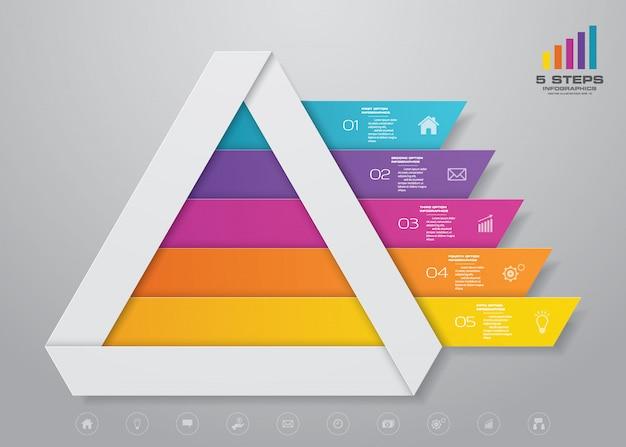 ピラミッドグラフインフォグラフィック Premiumベクター