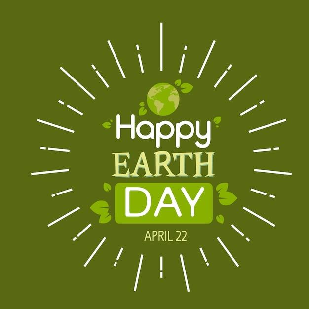 地球の日グローブツリー植物生態世界保護 Premiumベクター