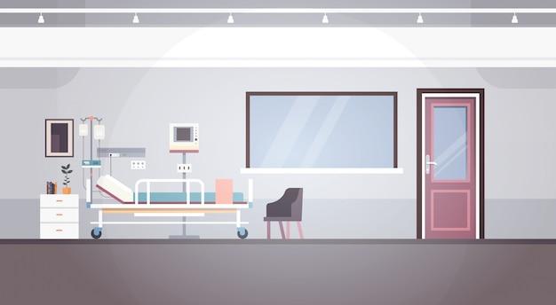病室の内部の集中療法のコピースペースが付いている患者区の旗 Premiumベクター