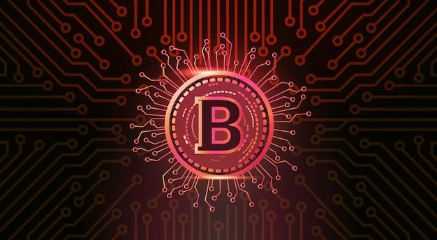 暗号通貨の概念 Premiumベクター