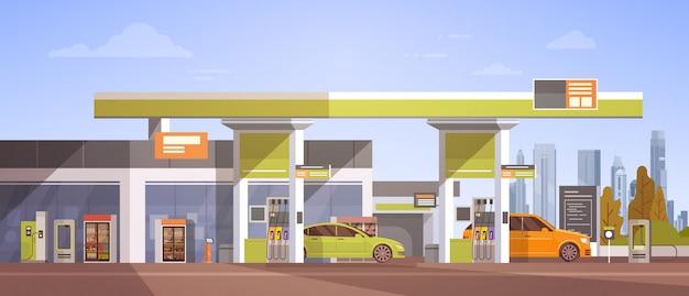ガソリンスタンドでの燃料補給 Premiumベクター
