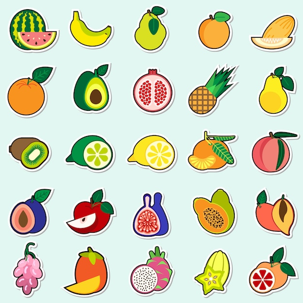 Картинки фрукты стикеры