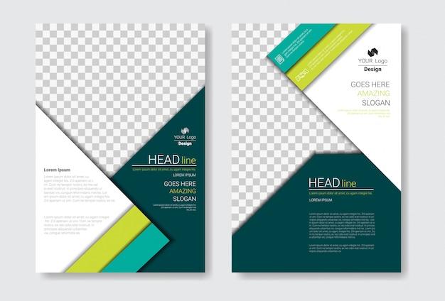 テンプレートデザインパンフレットセット Premiumベクター