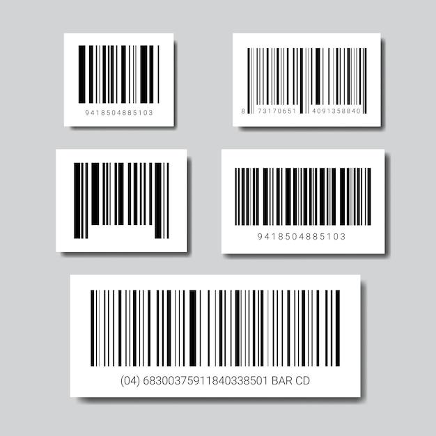 Набор образцов штрих-кодов для значка сканирования Premium векторы