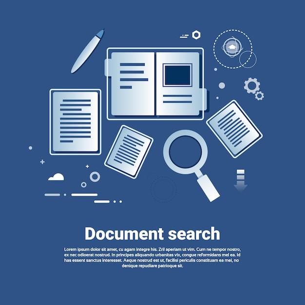 Шаблон поиска документов веб-баннер с копией пространства Premium векторы