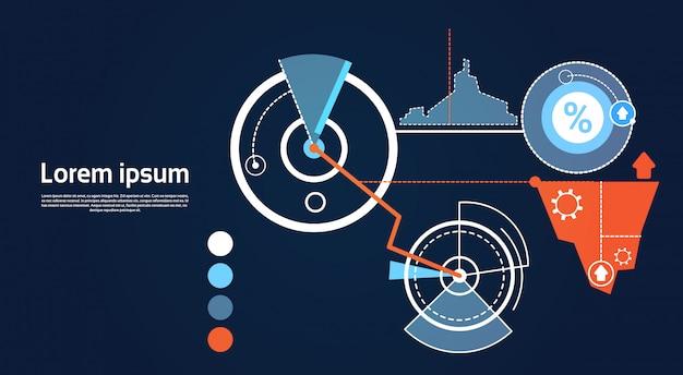 分析財務グラフ財務ビジネスチャート Premiumベクター
