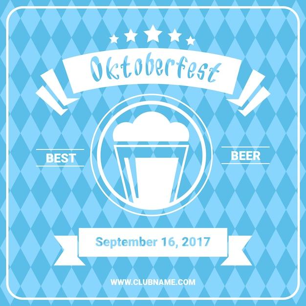オクトーバーフェストビール祭りポスター Premiumベクター