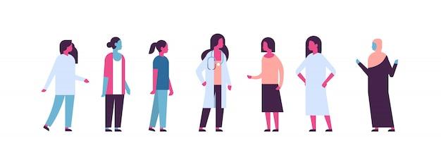 乳がんデーミックスレース女医女性相談バナー Premiumベクター