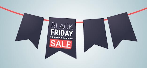 黒い金曜日特別オファービッグセールポスターリボンブックマークタググレーの休日割引フラット Premiumベクター