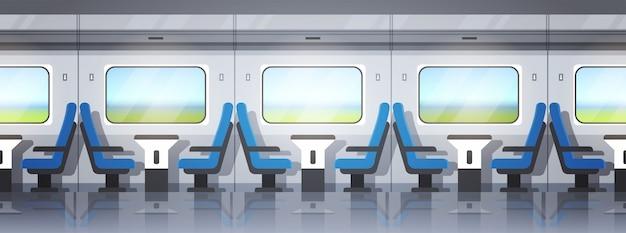 現代の急行列車のインテリア Premiumベクター