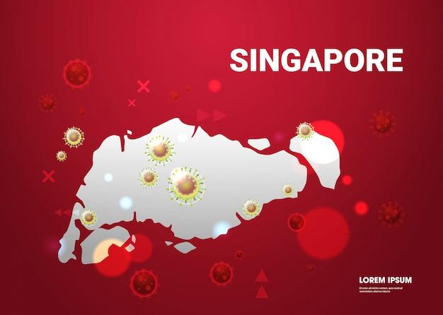 Эпидемия гриппа распространение мира плавающие клетки вируса гриппа ухань коронавирус пандемия медицинский риск для здоровья сингапур карта карта горизонтальный Premium векторы
