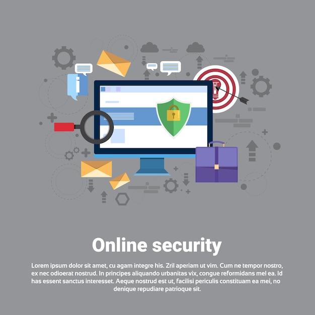 オンラインセキュリティデータ保護 Premiumベクター
