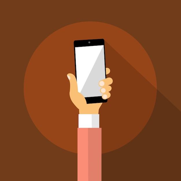 ハンドホールドセルスマートフォン Premiumベクター