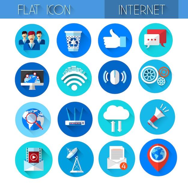 インターネットアイコンコレクション技術セット Premiumベクター