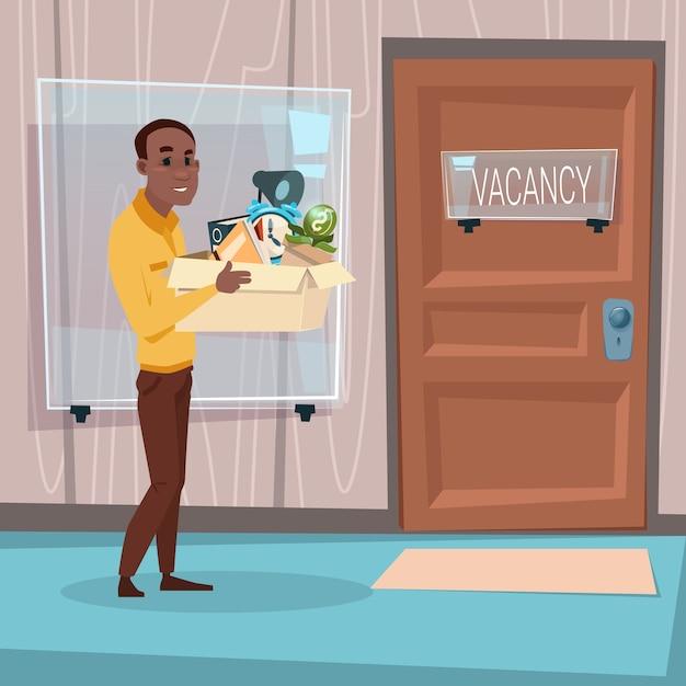 Афро-американский деловой человек Premium векторы