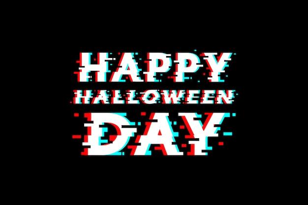 Счастливый хэллоуин день дизайн глюк. Premium векторы