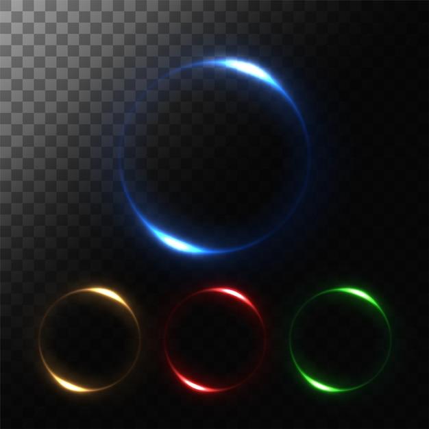 ラウンドライトセット Premiumベクター