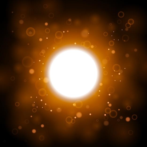 太陽光のような黄色の光 Premiumベクター