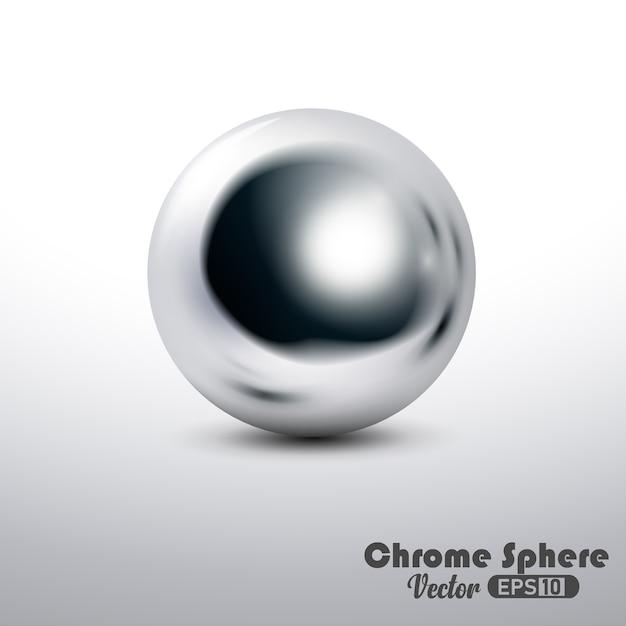 金属反射クロム球 Premiumベクター